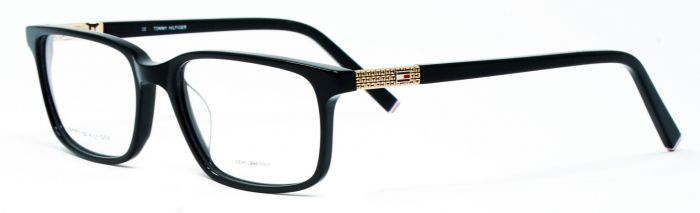 0a0d85e1eec Tommy Hilfiger TH5249 C1 53-17 Medium Black Unisex Premium Eyeglasses